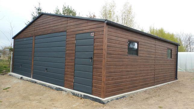 Garaż drewnopodobny 8x6  profil 6x5 6x6 7x6 8x6 9x6