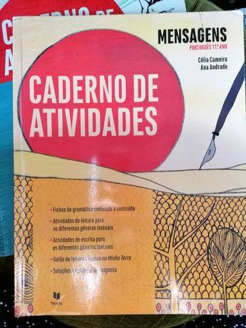 """Caderno de atividades 11° ano português """"Mensagens"""""""