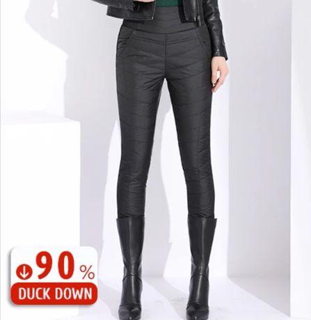 Nowe Spodnie ocieplane kaczym puchem 90%