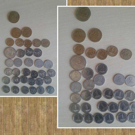 Монеты гривни 50коп,25коп,10коп,2коп,1копейки