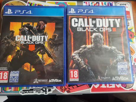 Call of duty Black Ops 3 e 4