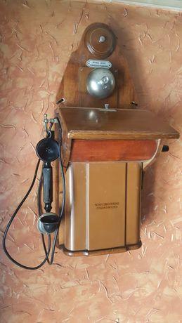 XIX w Zabytkowy Telefon  Super  Stan !!! Robi  Wrażenie na Ścianie!!!