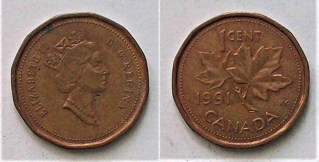 Kanada 1 cent rok 1991