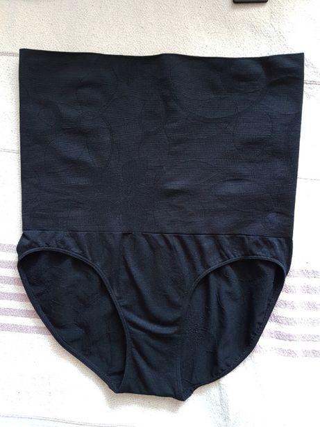 majtki figi wyszczuplające czarne XL XXL bielizna modelująca pociążowe