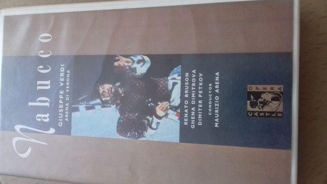 Kaseta VHS, film Nabucco Giuseppe Verdi