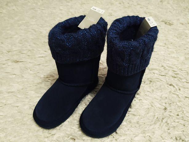 Buty zimowe, śniegowce EMU UGG NEXT 21/5 Nowe Mrugała skóra Zamszowe