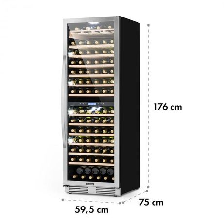 Винный холодильник Klarstein Vinovilla Grande Duo 165+ бутылок