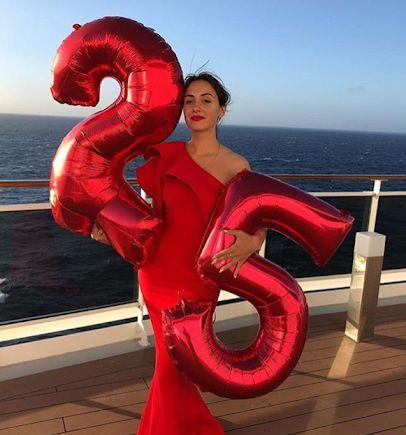 Шары цифры 1 метр (1,2,3,4,5,6,7,8,9,0) красные, червоні кульки