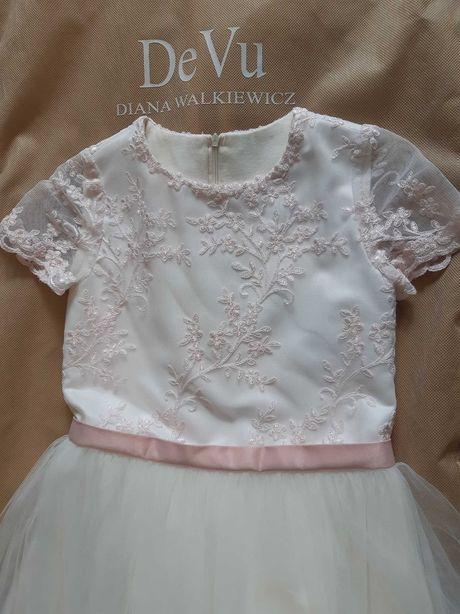 Piękna sukienka na każdą okazję-jak nowa,Diana Walkiewicz. roz.9-11lat