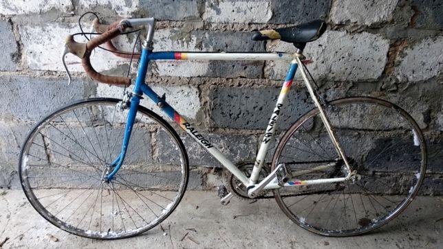 Stary rower kolarzówka Raleigh Custom Weinmann Team Panasonic kolarka
