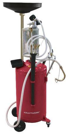 Aspirador recuperador de óleo usado pneumático c/ 90 litros no depósit