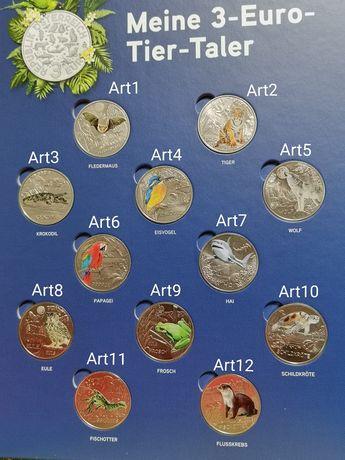 Moedas coloridas Áustria 3€