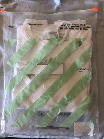 OFF-WHITE Unfinished Diag Sweatshirt White