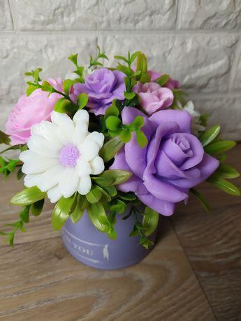 Букет из мыла з мила роз цветы ручной работы мило
