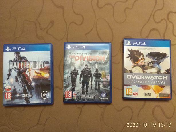 Gry PS4 Overwatch, Battlefield 4