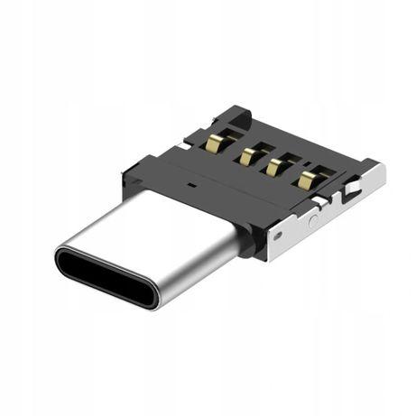 Adapter OTG - USB A wtyk na USB typ C