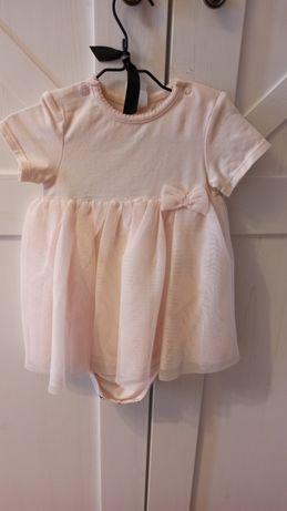 Sukienka body ze spódniczką tiulową h&m 68