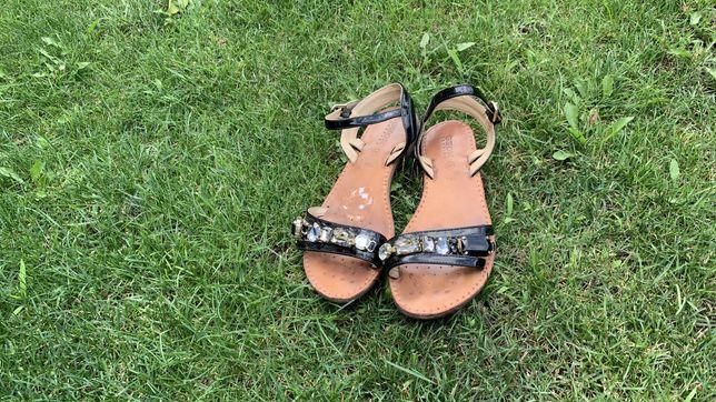 Фирменные кожаные сандали Geox 35 рр