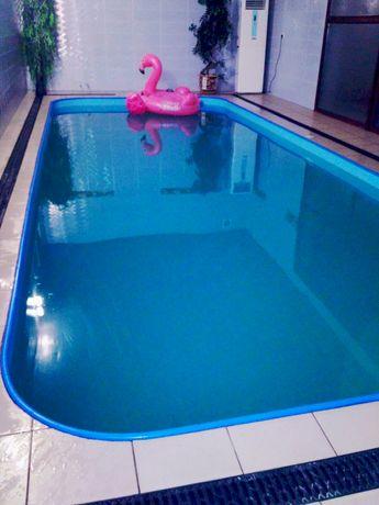 Сауна с большим крытым плавательным бассейном с подогревом для Вас!