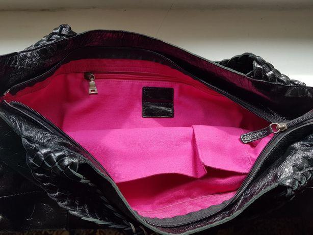 Nowa torba damska skóra naturalna lakierowana firmy RABEANCO.