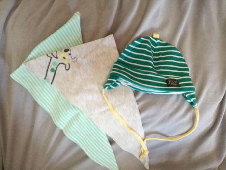 Zestaw dla maluszka czapeczka, 2 x apaszka na wiosnę