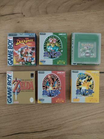 Gameboy gry, pokemon, cover box na gry