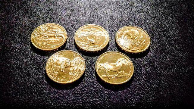 Monety 2 złote zwierzęta z woreczków menniczych zestaw nr2