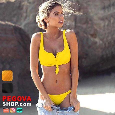 Модный летний купальник Fiat | Черный, Жёлтый | S, M, L | Отправка