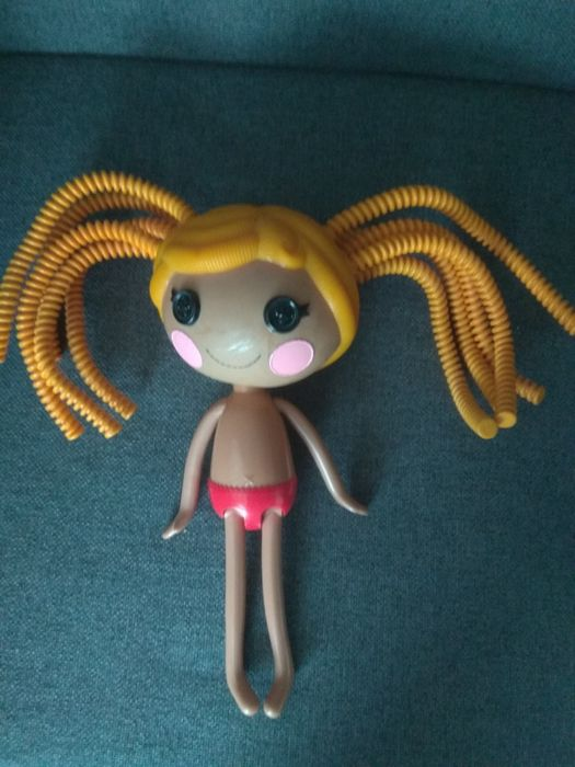 Duża lalka lalaloops bez ubranka vintage ruda 2010 guziki oczy zabawka Chełm - image 1