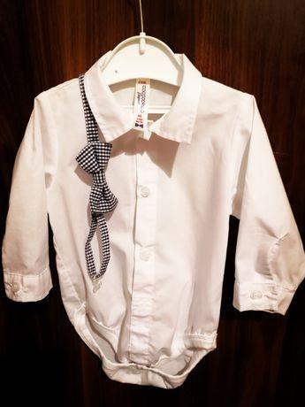 Ubranko do chrztu Coccodrillo 68cm buty mucha koszula spodnie chrzest