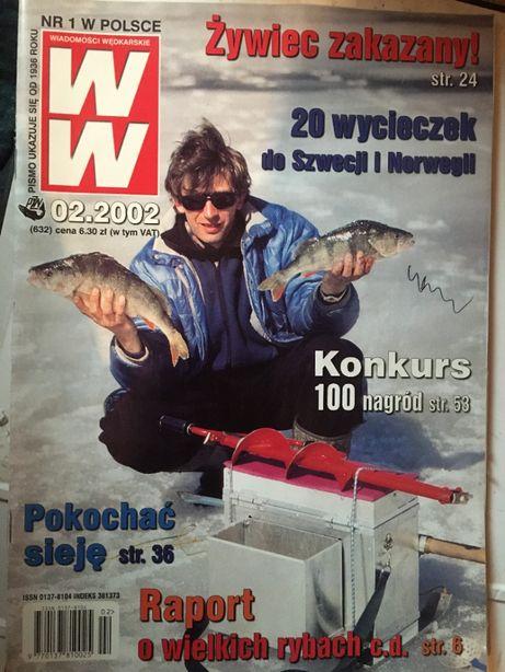 Wiadomości Wędkarskie 2002 - 03, 18 numerów w idealnym stanie + segr