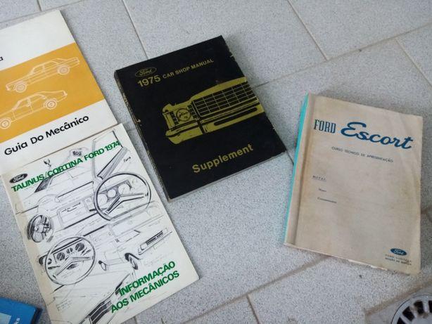 Lote de manuais de oficina oficiais Ford escort taunus anos 70