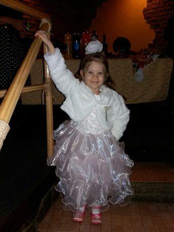 Новогоднее платье с болеро для девочки