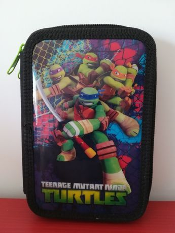 Estojo Escolar Tartarugas Ninja duplo (2 partes) - Usado