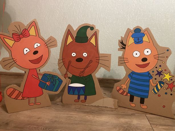 Три кота фигуры декор