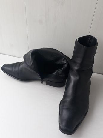 Шикарные ботинки женские кожаные демисезонные р.38-39
