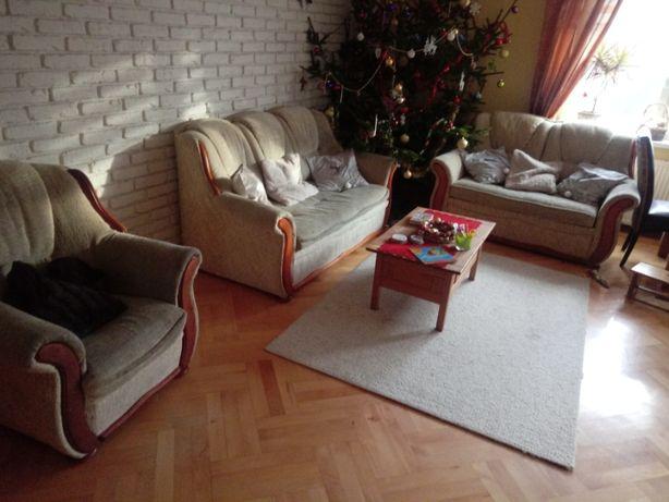 Zestaw wypoczynkowy ,dwie sofy plus fotel 1+2+3 --ZAMIANA