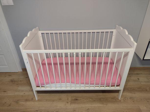 Łóżeczko dla dziecka, łóżko drewniane bez materaca
