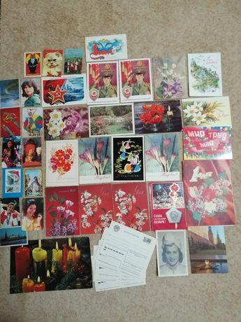 Открытки и календарики разные СССР.