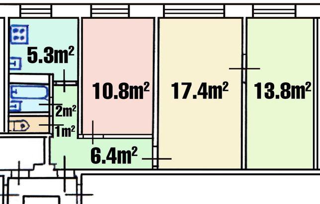 Продаж Головатого (р-н Виговського, Патона) 3к. 57м², власник, торг!