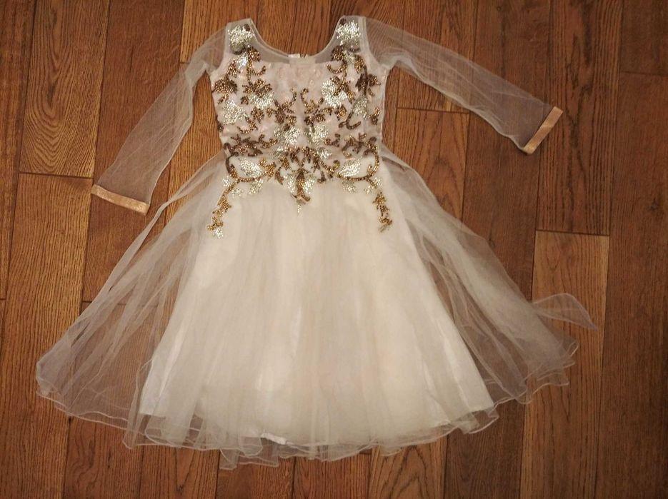 Sukienka balowa karnawałowa,  bogato zdobiona 116 5 lat Zamość - image 1