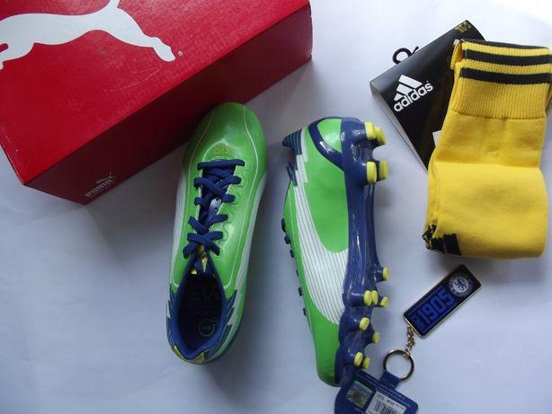korki Puma 37,38 getry Adidas + brelok FC Chelsea