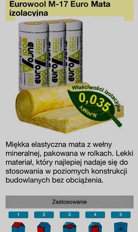 wełna mineralna lamda 0,035 eurowool rolka m-17