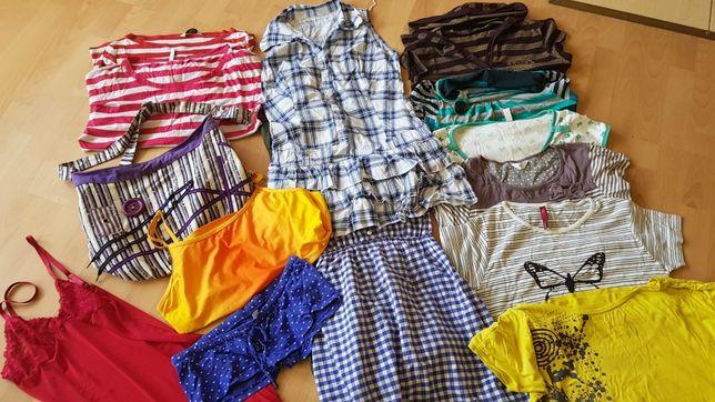 Zestaw ubrań damskich na lato rozmiar M torba gratis