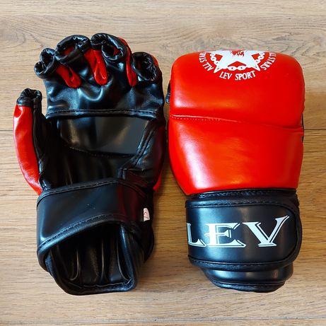 Перчатки для ММА, рукопашного боя LEV кожа, стрейч