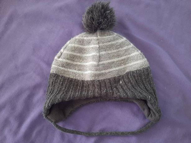 Деми шапочка 1-2 года с завязочками