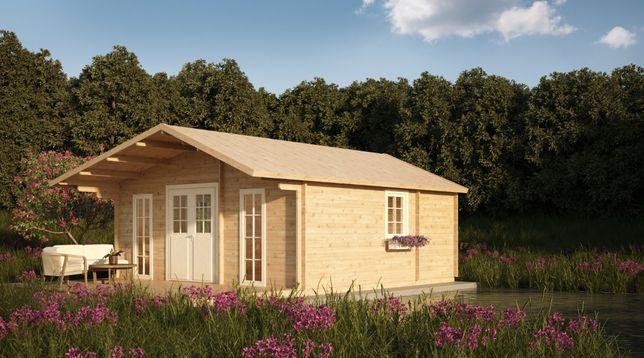 Drewniany domek CHABER II BEZ BALUSTRAD - na zgłoszenie, 35m2 + taras!