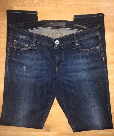 Nowe oryginalne spodnie GUESS kryształki przetarcia rozm. 30 M