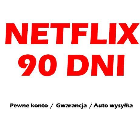 NETFLIX 90 DNI PREMIUM PL + HBO PEWNE   Wysyłka 24h i Pewne