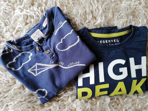 Dwie koszulki z długim rękawem 92cm Zara
